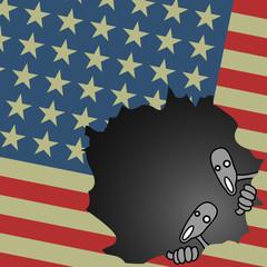 Bandera americana rota