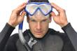 Male snorkeler