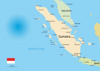 Indonesien Karte / Erdbeben