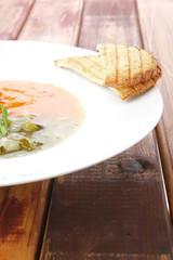 european cuisine: vegetable soup