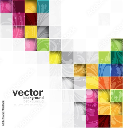 abstract  vector seamless blocks floral structure
