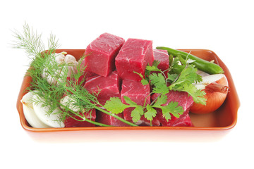 raw fresh beef meat fillet