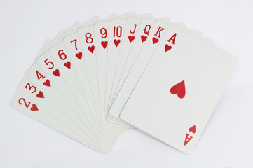 Poker game of cards with full scale