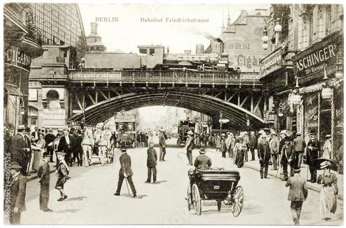 canvas print picture Friedrichstrasse Postcard