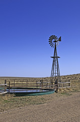 Windmill and Tank in Northern Colorado, USA