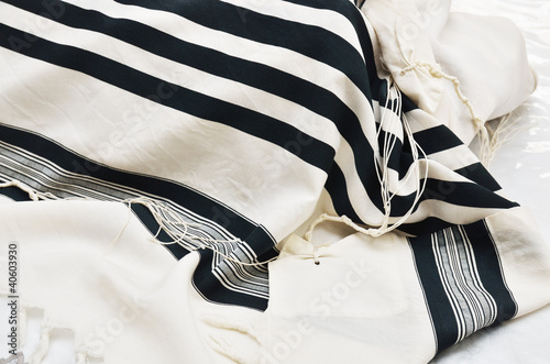 close up of Prayer Shawl - Tallit