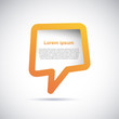 Cover speech in orange # Vector