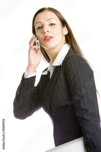 telephoning businesswoman