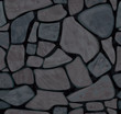 Vector seamless texture of stonewall in black colors