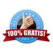 100% Gratis! Button, Icon