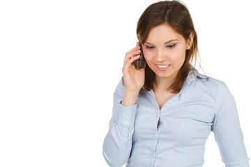 geschäftsfrau telefoniert mobil