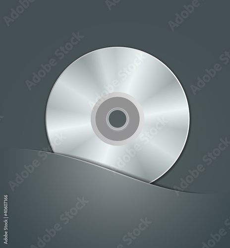 CD in black package. vector illustration
