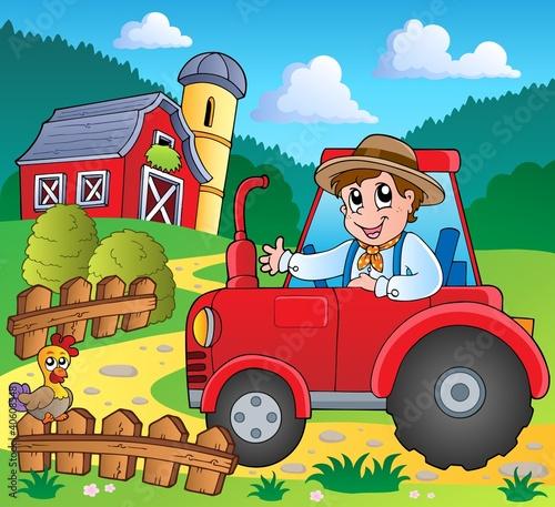 Foto op Canvas Boerderij Farm theme image 3