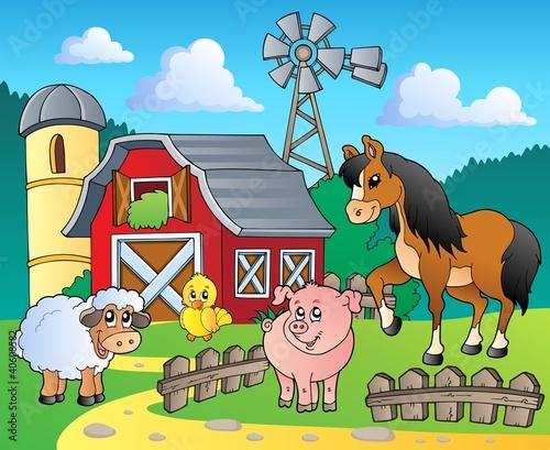 Foto op Canvas Boerderij Farm theme image 4
