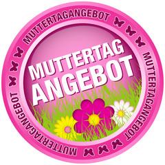 Button Muttertagangebot Blumen pink