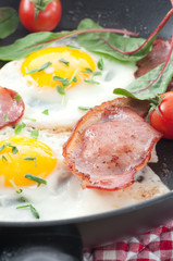 Bacon Rasher With Fried Egg