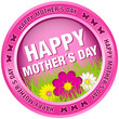 "Button Flowers ""Happy Mother´s Day"" Pink"