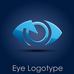 Logo blue eye, photographer # Vector