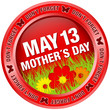 "Button Flowers ""Don´t Forget Mother´s Day"" Red"