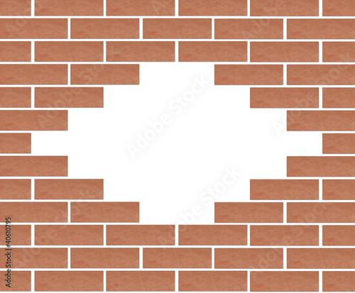 Trou dans mur de briques photo libre de droits sur la for Reboucher les trous dans un mur
