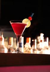Strawberry Margarita in einer Bar