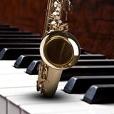 Saxophon Piano Hintergrund