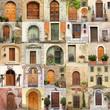 wallpaper with vintage doors in Italy