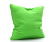 bright green pillow isolated on white