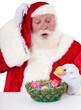 Weihnachtsmann wundert sich über Ostereier