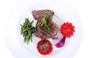 roasted beef meat strips