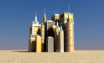 Golden City Rising Out The Desert