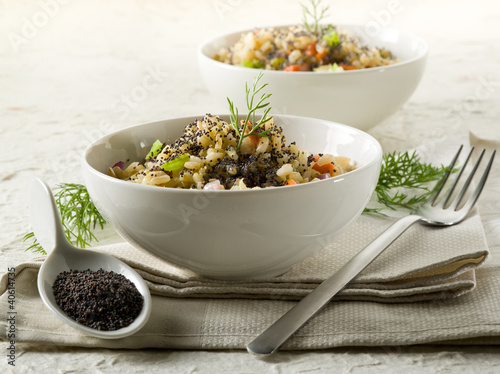 risotto with poppy seed and carrots,healthy food