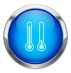 Metalik termometre ikonu