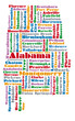 word cloud map of Alabama state