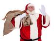 Weihnachtsmann winkt freundlich