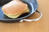 Dorayaki on the pan.
