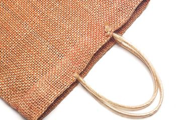 Wicker bamboo handbag