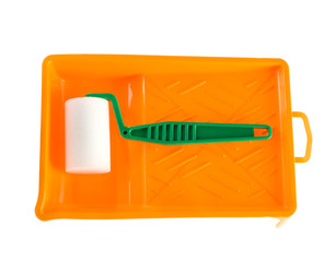 Paint-roller and tray