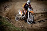 Fototapeta motocyklista - motocykl - Sporty motorowe