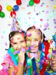 Niñas de carnaval y fiesta.
