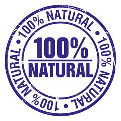 button stempel 100% natural ganz natürlich