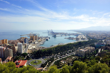 Vista panorámica de Málaga