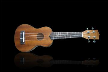 Ukulele guitar isolated on background