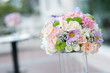 Beautiful pink flower in wedding event