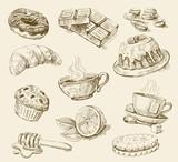 Fototapety food set
