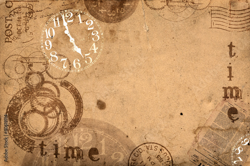 Grunge Abstract Background Time Concept
