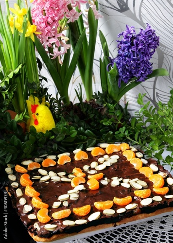 ornamental traditional cake for easter