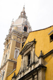 Cathedral  and Temple of Siglo Colombia Cartagena historic archi poster