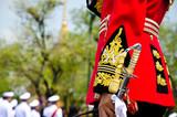 Thai king s royal bodyguard  The Royal Yeoman standing security poster