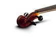 Geige weißer Hintergrund Schatten